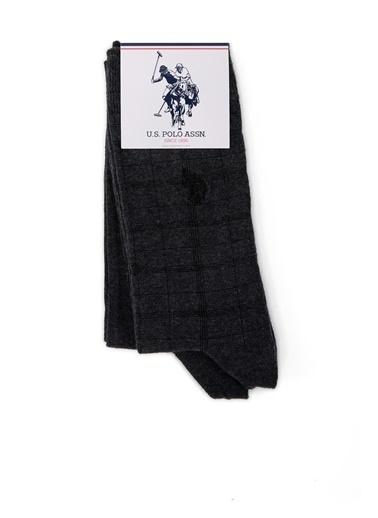 U.S. Polo Assn. 2'li Çorap Antrasit